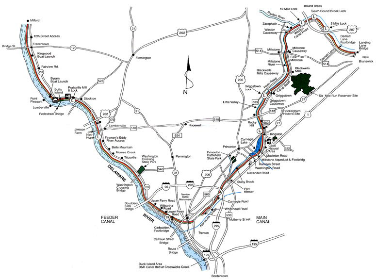 D&R Canal State Park – Trenton to New Brunswick